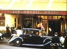 The Queen and Prince Charles visit the Lawcourts Hotel in 1954